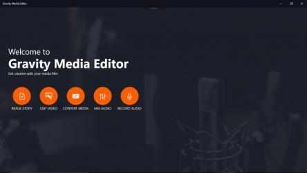 Captura 1 de Gravity Media Editor para windows