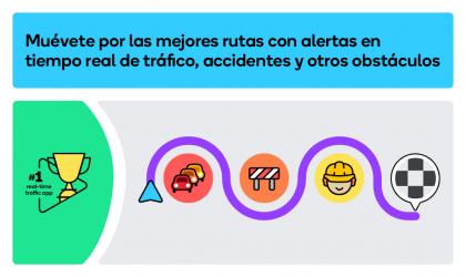 Captura 2 de Waze - GPS, Maps, Traffic Alerts & Live Navigation para android