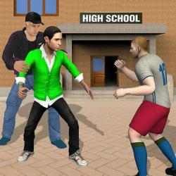 Captura 1 de Gangster in High School - New Fighting Games 2020 para android