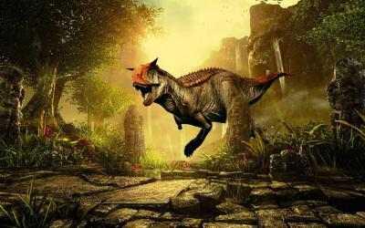 Captura de Pantalla 2 de Real Dino Cazador -  Jurásico Aventuras Juego para android