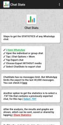 Captura de Pantalla 9 de Chat Stats para WhatsApp para android