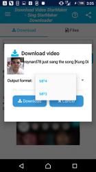 Screenshot 12 de Descarga de vídeo y canciones para StarMaker para android