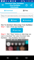 Captura 2 de Descarga de vídeo y canciones para StarMaker para android
