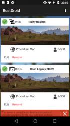 Screenshot 2 de RustDroid: Rust Server Admin para android
