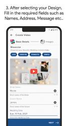 Captura de Pantalla 4 de Video Invitation Maker - Wedding, Birthday, Events para android
