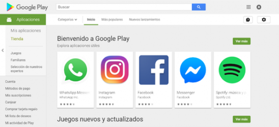 Captura 1 de Google play para windows