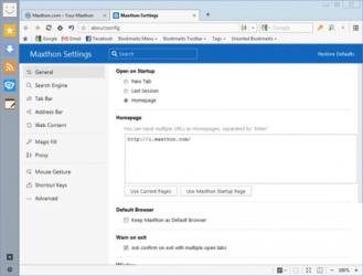 Captura de Pantalla 2 de Maxthon para windows