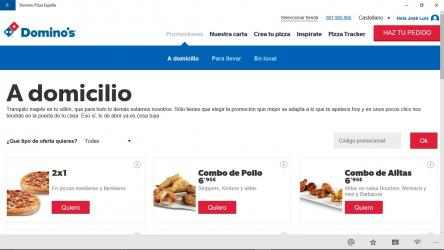 Imágen 3 de Dominos Pizza España para windows