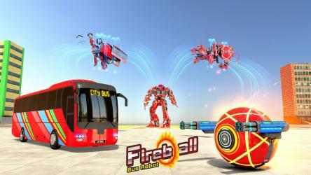 Screenshot 13 de Bus Robot Transform Ball Game para android
