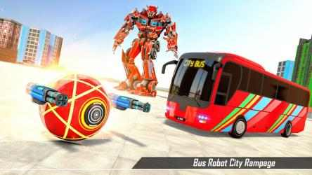Imágen 6 de Bus Robot Transform Ball Game para android