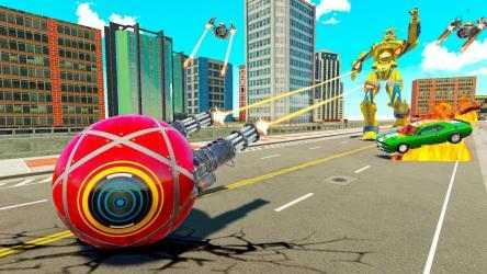 Captura de Pantalla 9 de Bus Robot Transform Ball Game para android
