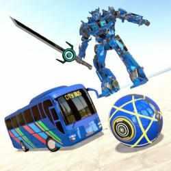 Captura de Pantalla 1 de Bus Robot Transform Ball Game para android