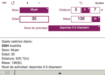 Captura 2 de TDEE + BMR + BMI Calculator para windows