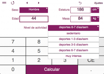 Screenshot 3 de TDEE + BMR + BMI Calculator para windows