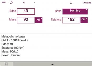 Captura 5 de TDEE + BMR + BMI Calculator para windows