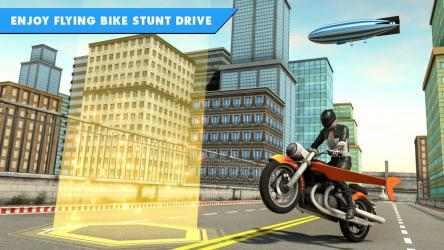 Captura de Pantalla 10 de Juego de bicicleta de vuelo futurista para android