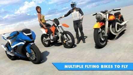 Imágen 11 de Juego de bicicleta de vuelo futurista para android