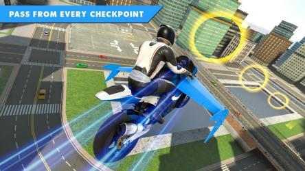 Captura 2 de Juego de bicicleta de vuelo futurista para android