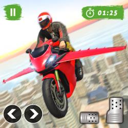Captura 1 de Juego de bicicleta de vuelo futurista para android