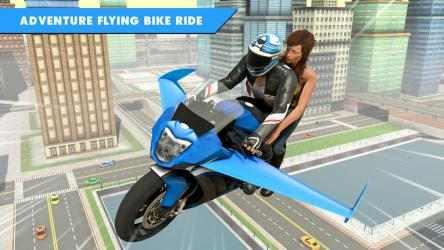 Captura 4 de Juego de bicicleta de vuelo futurista para android