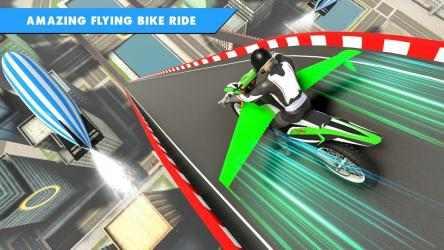 Captura 13 de Juego de bicicleta de vuelo futurista para android