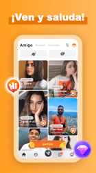 Captura de Pantalla 3 de Amigo-Chat Rooms, Real Friends para android