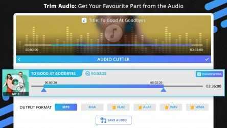 Screenshot 1 de Music Editor : Trim, Extract, Convert and Mix Audio para windows