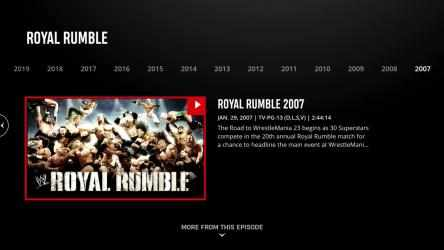 Captura de Pantalla 12 de WWE Network para windows
