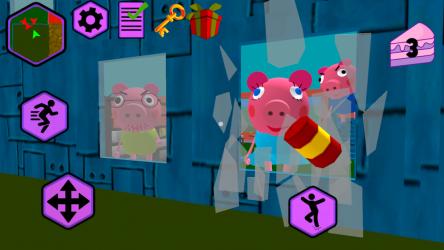 Captura de Pantalla 8 de Piggy Neighbor. Family Escape Obby House 3D para android