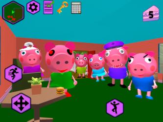 Captura de Pantalla 9 de Piggy Neighbor. Family Escape Obby House 3D para android