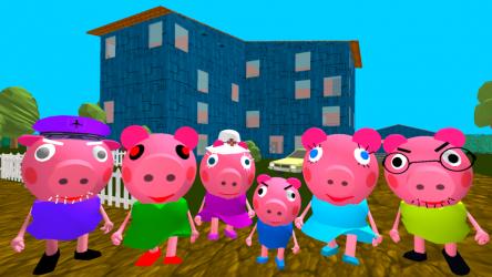 Screenshot 2 de Piggy Neighbor. Family Escape Obby House 3D para android