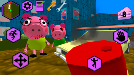 Imágen 4 de Piggy Neighbor. Family Escape Obby House 3D para android