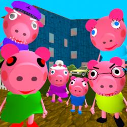 Captura de Pantalla 1 de Piggy Neighbor. Family Escape Obby House 3D para android