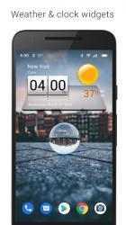 Captura de Pantalla 10 de 3D Sense Clock & Weather para android