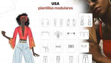 Screenshot 3 de Fashion Design - Diseñar Vestidos: dress up y make up ideas con ilustraciones de colores para modelos para windows
