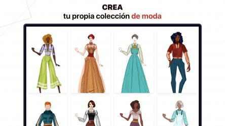 Screenshot 4 de Fashion Design - Diseñar Vestidos: dress up y make up ideas con ilustraciones de colores para modelos para windows