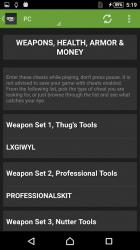 Captura 9 de Cheats for GTA 5 (PS4/Xbox/PC) para android