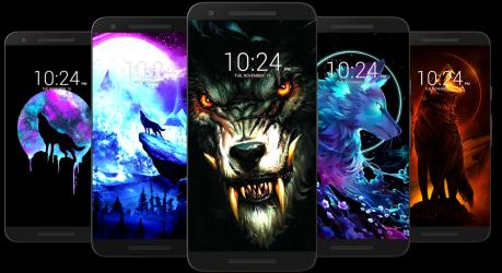 Captura de Pantalla 4 de Fondo de pantalla de lobo HD para android