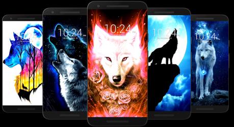 Screenshot 14 de Fondo de pantalla de lobo HD para android