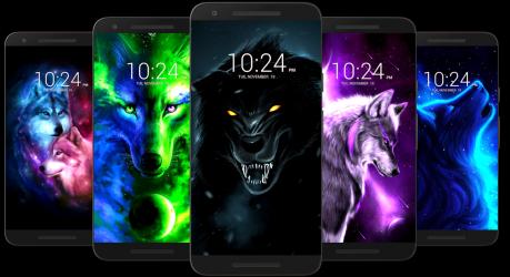Screenshot 13 de Fondo de pantalla de lobo HD para android
