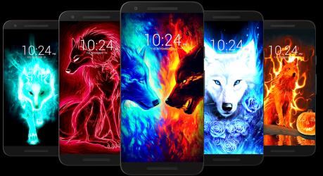 Screenshot 10 de Fondo de pantalla de lobo HD para android