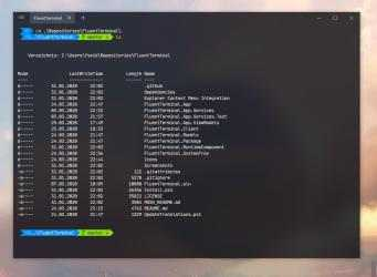 Screenshot 1 de Fluent Terminal para windows