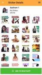 Captura de Pantalla 4 de Aashram Stickers For WhatsApp - WAStickerApps para android