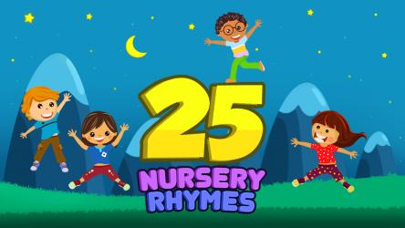 Captura de Pantalla 3 de Top 25 Nursery Rhymes Videos - Offline & Learning para android