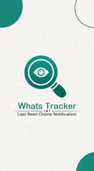 Screenshot 2 de Whats Online Last Seen Tracker : Status Saver para android