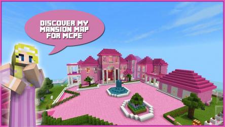 Captura 2 de Map Pink Princess House for MCPE para android