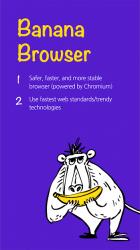 Screenshot 2 de Banana Browser (Ad Blocker, DNS over HTTP / HTTPS) para android