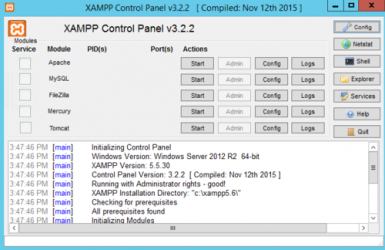 Captura 1 de Xampp para windows