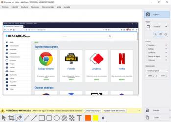 Captura 2 de WinSnap para windows