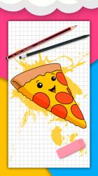 Captura de Pantalla 2 de Cómo dibujar comida linda, bebidas paso a paso para android